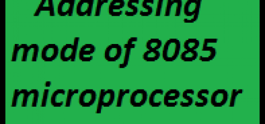 Addressing mode of 8085 microprocessor