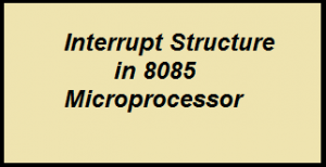 Interrupt Structure in 8085 microprocessor